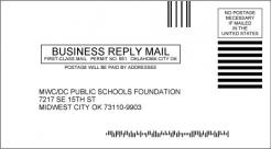 #6-3/4 Business Reply Mail Envelope