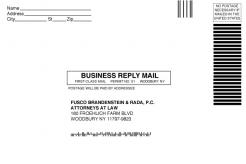 6 x 9 White Business Reply Mail Envelope